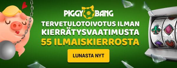 PiggyBang Kasino on huolella tehty laadukas Kasino Suomalaisille.