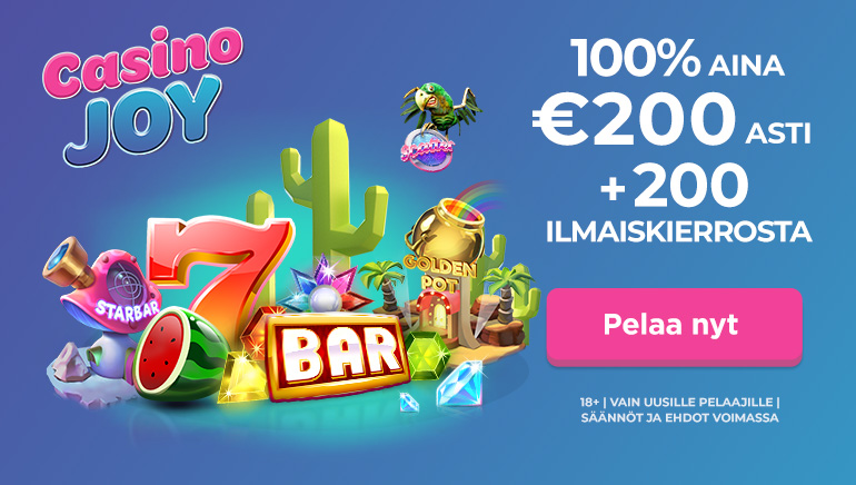 Lunasta Casino Joyn suuret bonukset, joita on jopa 1000€ arvosta. Testaa nettikasino, livekasino ja iso bonus.