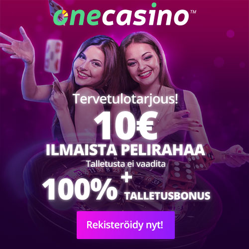 10€ ilmaista bonusta tilin rekisteröinnistä! Applepay kasinot, live kasinot, nopeat kotiutukset ja live kasinot. Kaikki Onecasinolta!